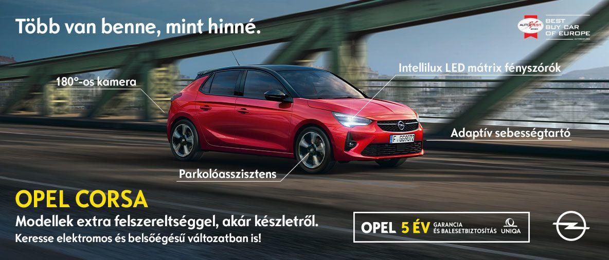 Extrás Opel Corsa modellek akár készletről