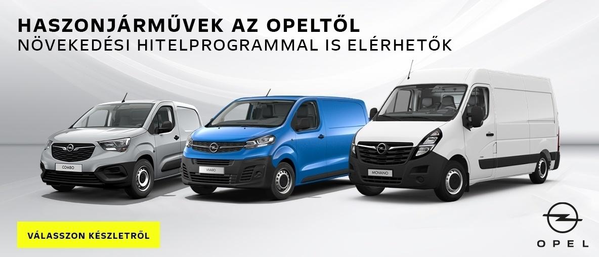 Opel Combo Cargo, Opel Vivaro, Opel Movano ajánlatok