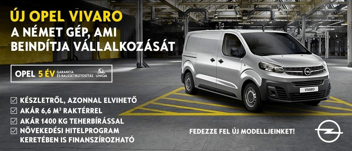 Opel Vivaro Cargo ajánlatok