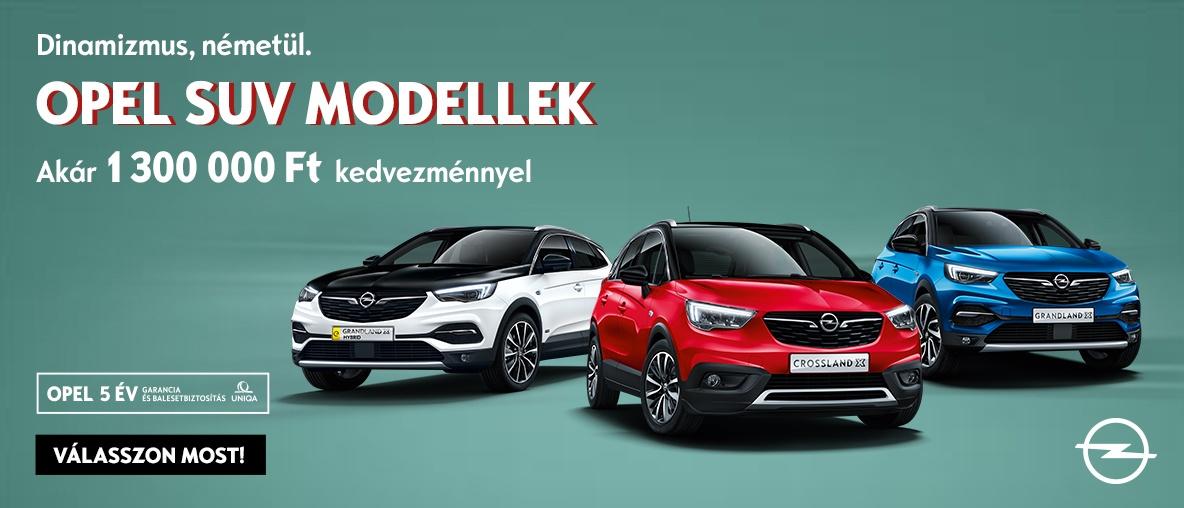 Opel SUV modellek most akár 1.300.000 Ft kedvezménnyel