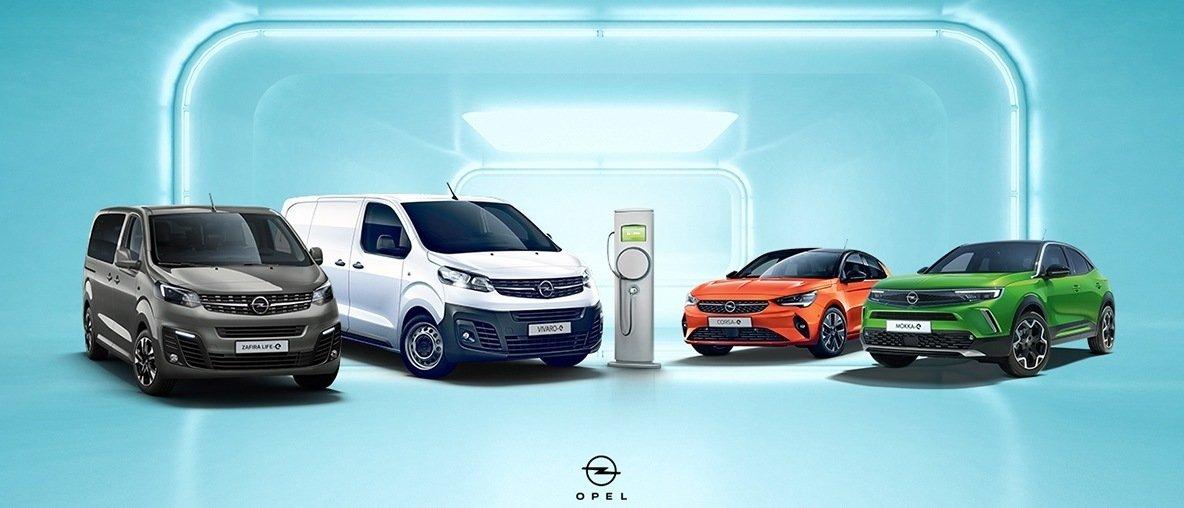 Opel Vivaro-e, Opel Zafira-e Life, Opel Corsa-e, Opel Mokka-e