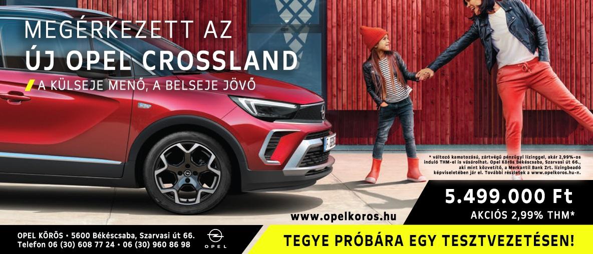 Megérkezett az új Opel Crossland
