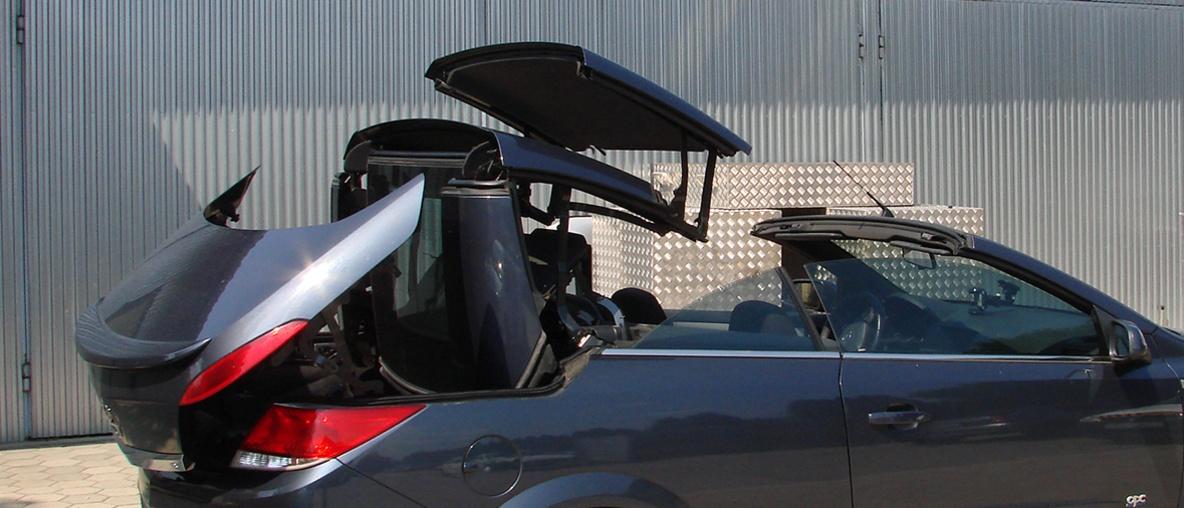 Cabrio tető javítás