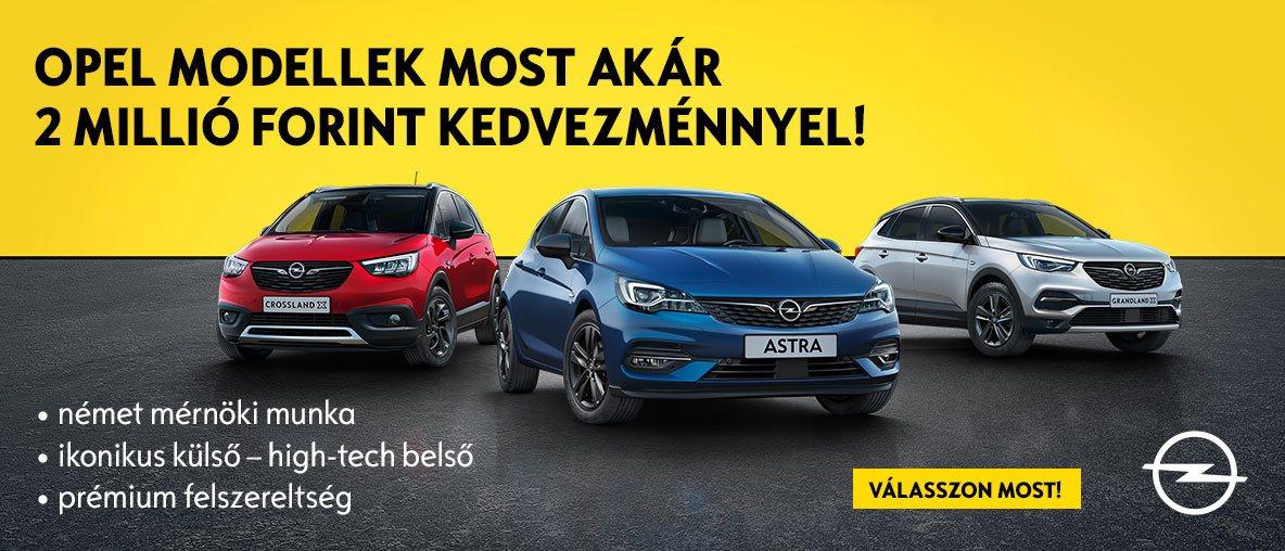 Válasszon kedvezményes Opel modelljeink közül