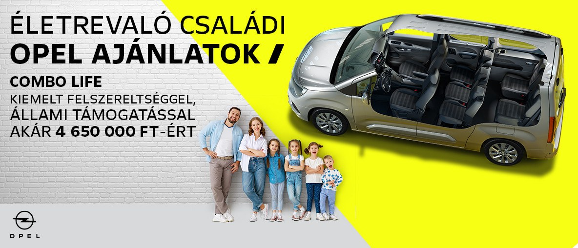 Opel Combo Life állami támogatással