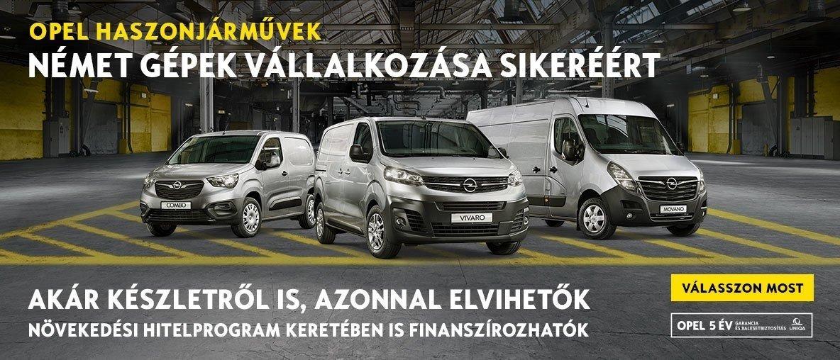 Opel Haszongépjárművek készletről