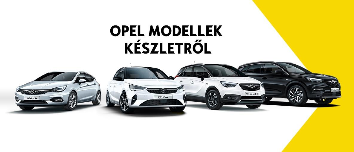 Opel modellek készletről