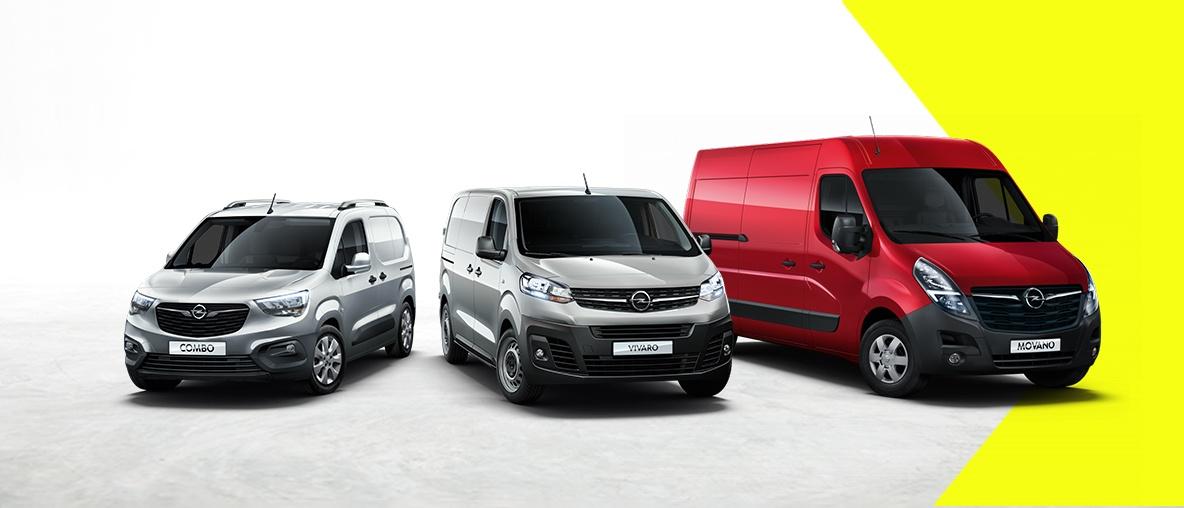 Opel Combo Cargo, Opel Vivaro, Opel Movano