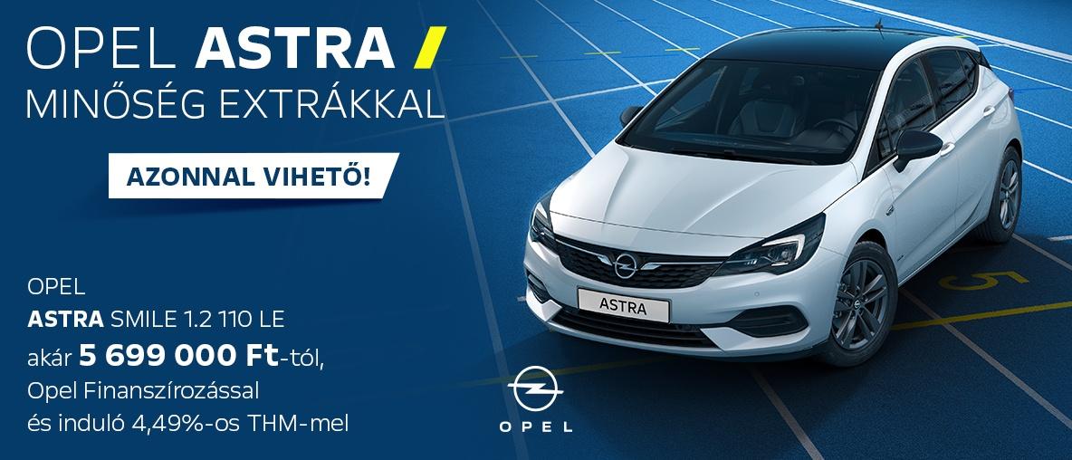 Opel Astra kedvező finanszírozással