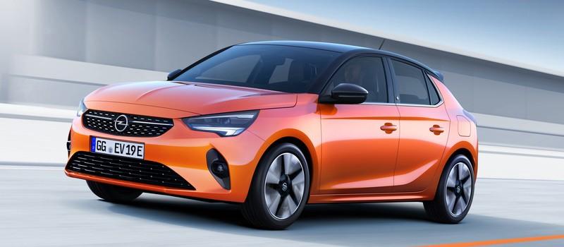Új Opel Corsa modell narancs fényezéssel.