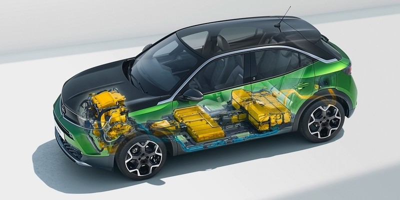 Opel Mokka-e akkumulátor és felépítés