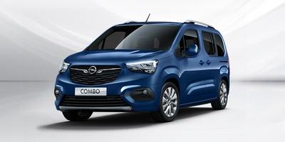 kék Opel Combo Life szemből