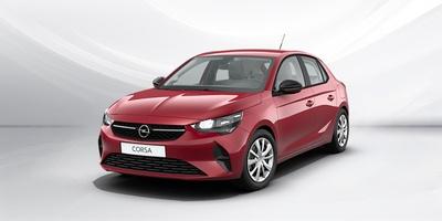 piros Opel Corsa szemből