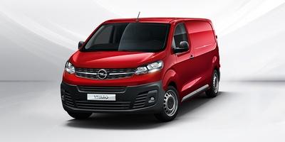 piros Opel Vivaro Cargo szemből