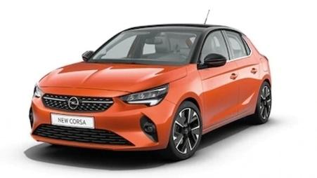 Narancs Opel Corsa-e Edition