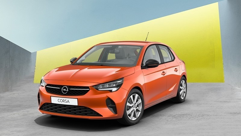 narancssárga Opel Corsa Smile